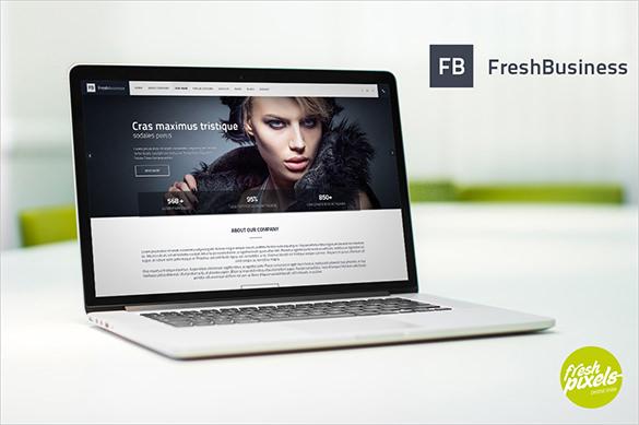 fresh business psd template
