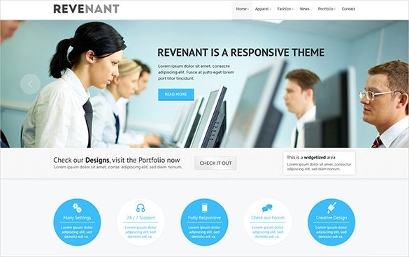 clean corporate business psd theme