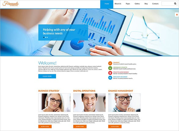 corporate consulting business psd template