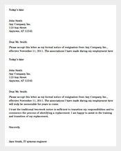 proffesional two weeks notice resignation letter example pdf