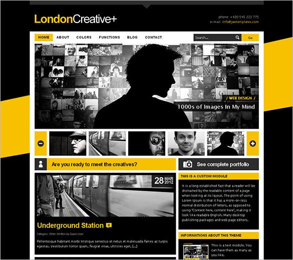 creative portfolio blog theme