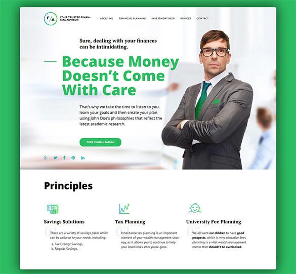 financial advisor responsive blog theme