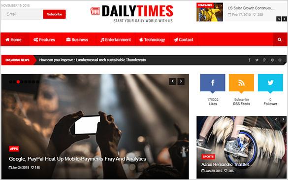 news and magazine blog template