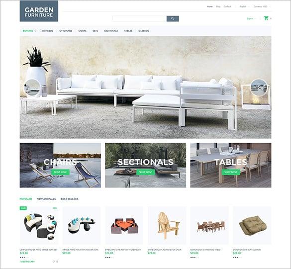 furniture responsive blog theme