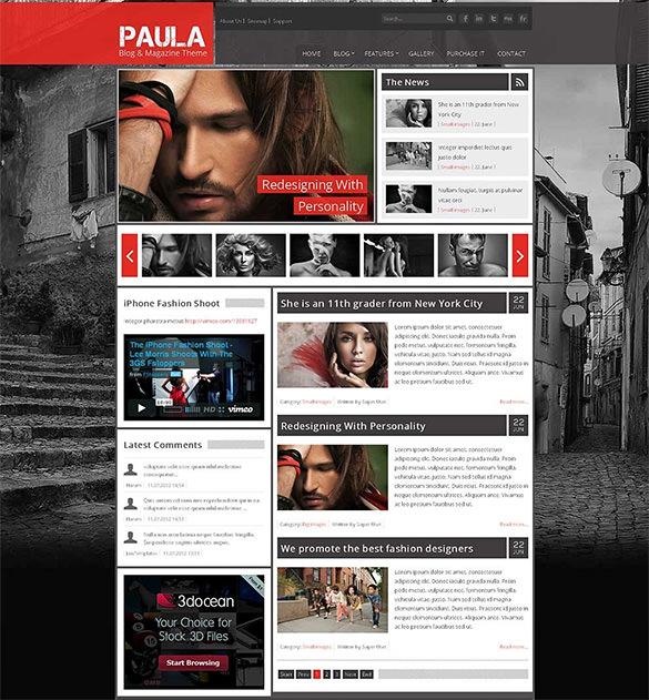 blog magazine theme premium download