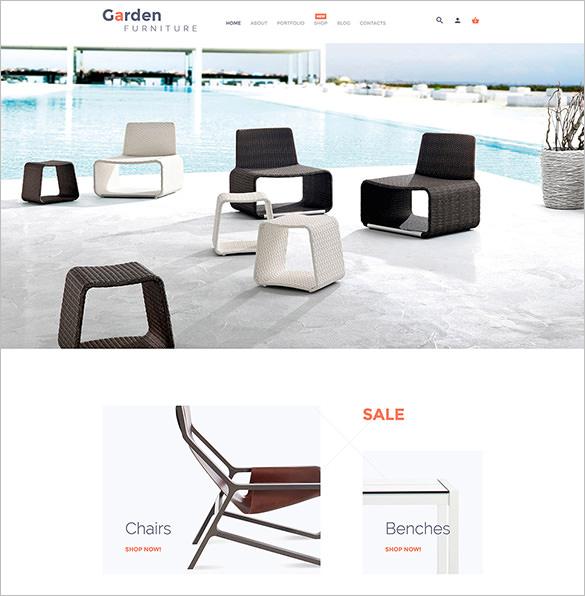 garden furniture blog theme