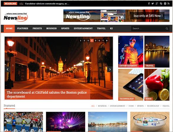 responsive magazine blog template
