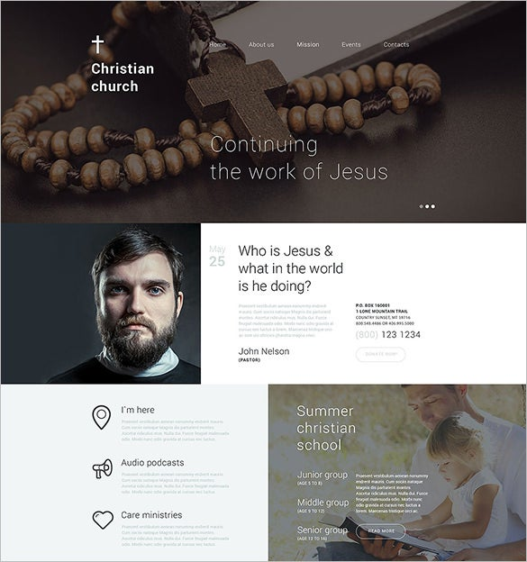 drupal templates for churches