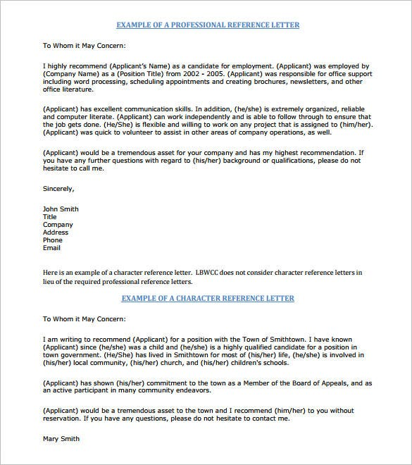 Perfect The Professional Job Recommendation Letter PDF Includes Both The  Professional And Character Reference For An Employee Who Has Spent  Considerable Time In ...