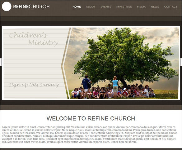 clean responsive church blog theme