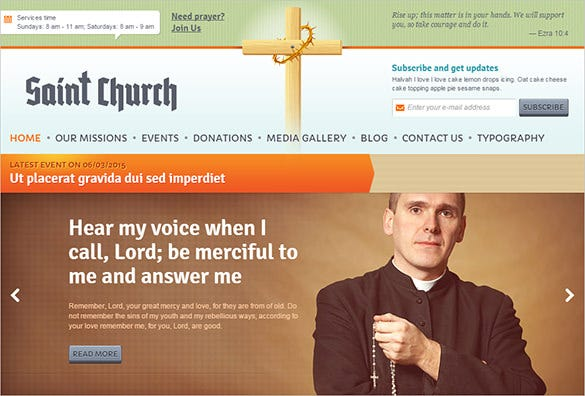 church blog template