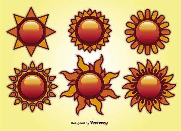 free summer sun vectors
