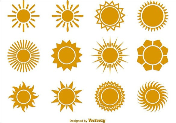 flat sun vector free download
