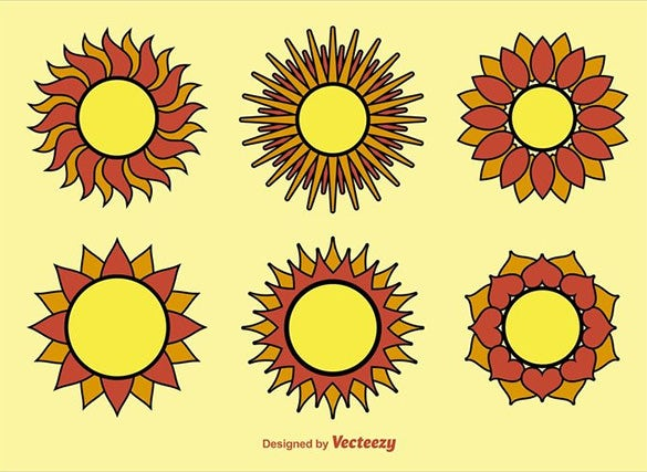 geometric sun vectors for free