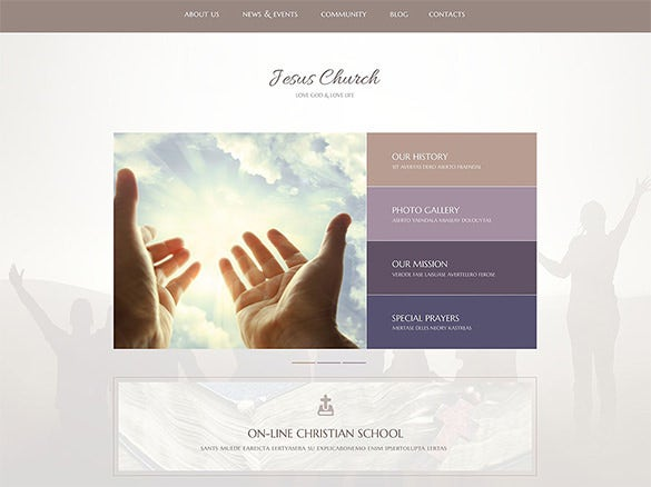 jesus church bootstrap theme