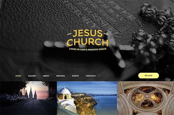 gorgeous church bootstrap theme