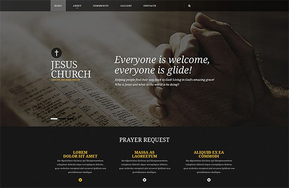 responsive bootstrap church theme