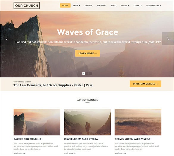 bright bootstrap church template1