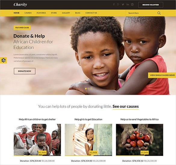 non profit church bootstrap template