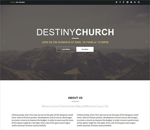 handsome church bootstrap template