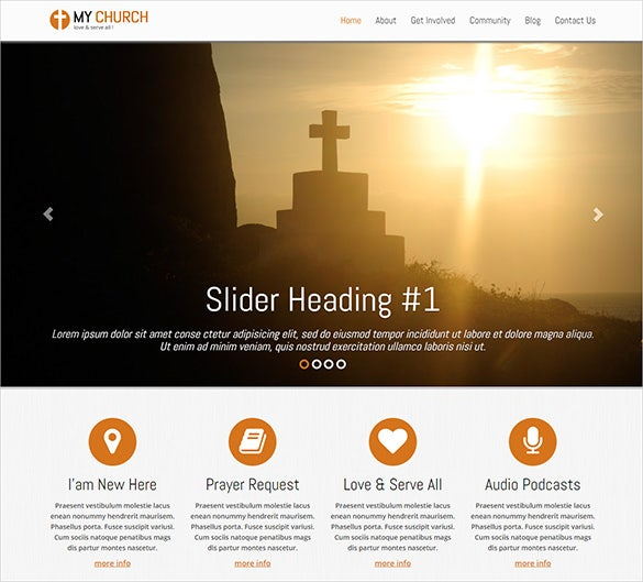 premium bootstrap church theme