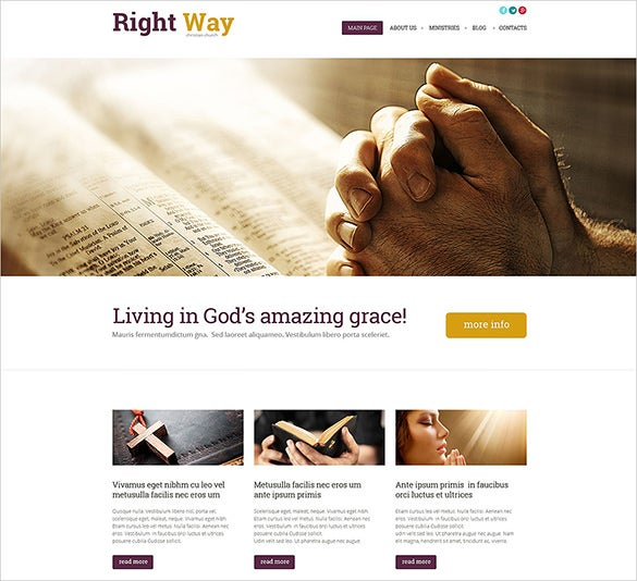 simple bootstrap church theme