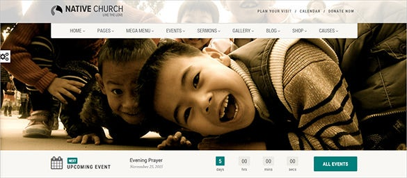 native church bootstrap template