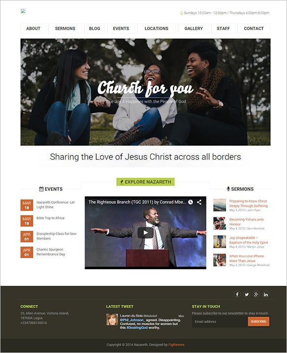 simple non profit church bootstrap template 491