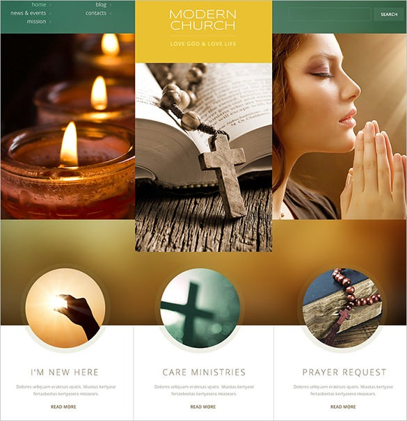modern church bootstrap theme