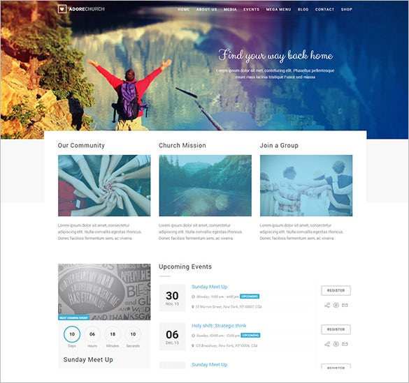 stunning church bootstrap theme 59