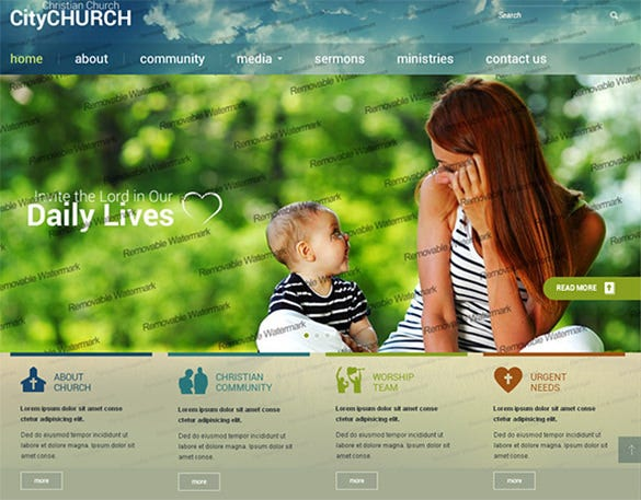 city church bootstrap templae