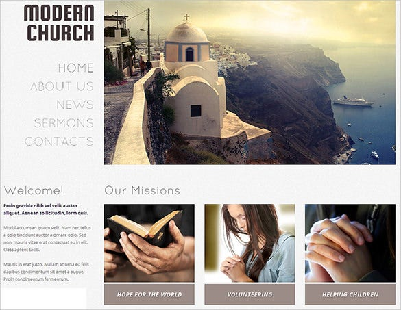 elegant church bootstrap theme