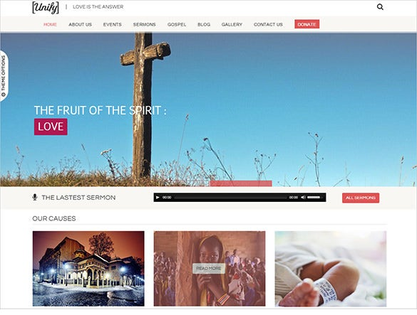 unify church bootstrap theme