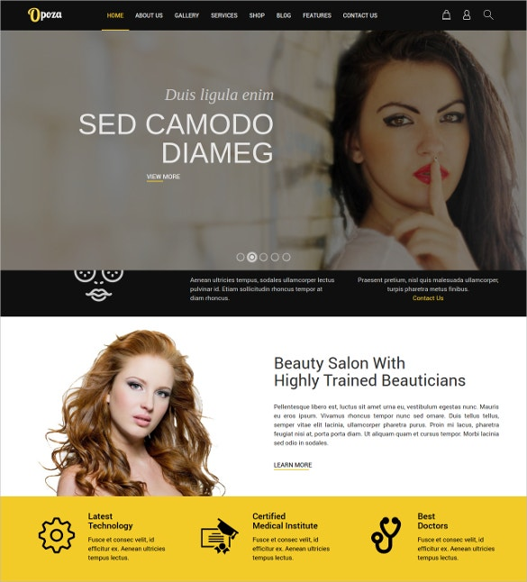 Salon Joomla Blog Template