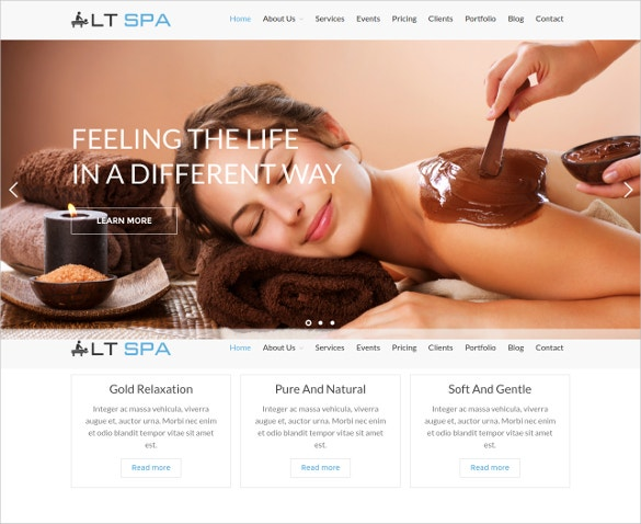 Spa Salon WordPress Blog Template