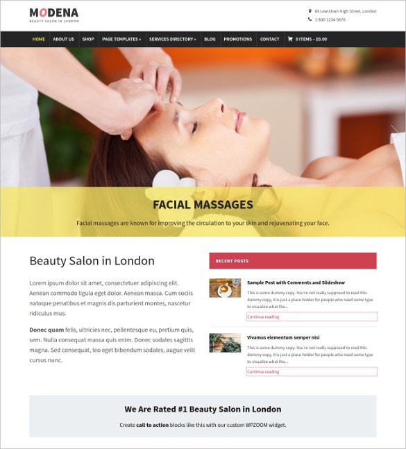 Respinsive Beauty Salon Blog Template