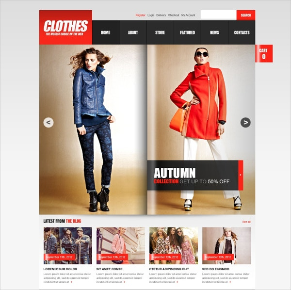 Magazine-Style Fashion Store Jigoshop Theme