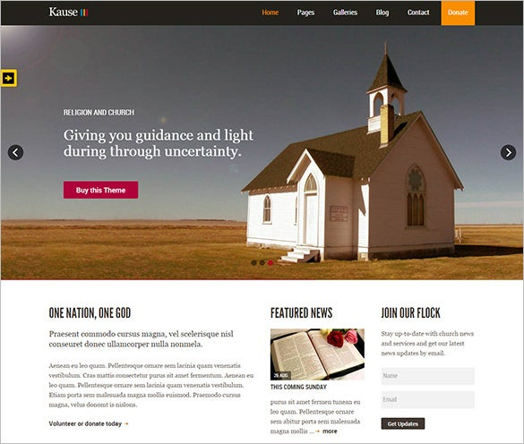beautiful multi purpose church php theme