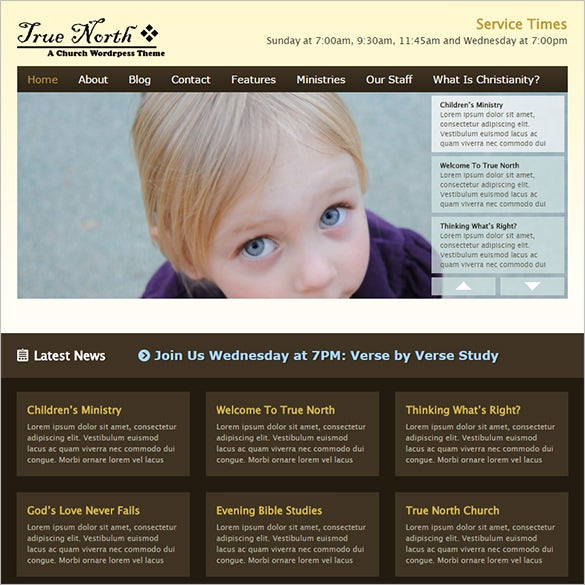 church wordpress php theme