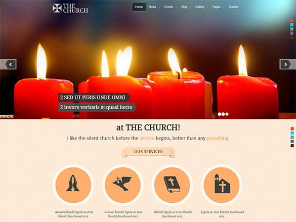premium church php template