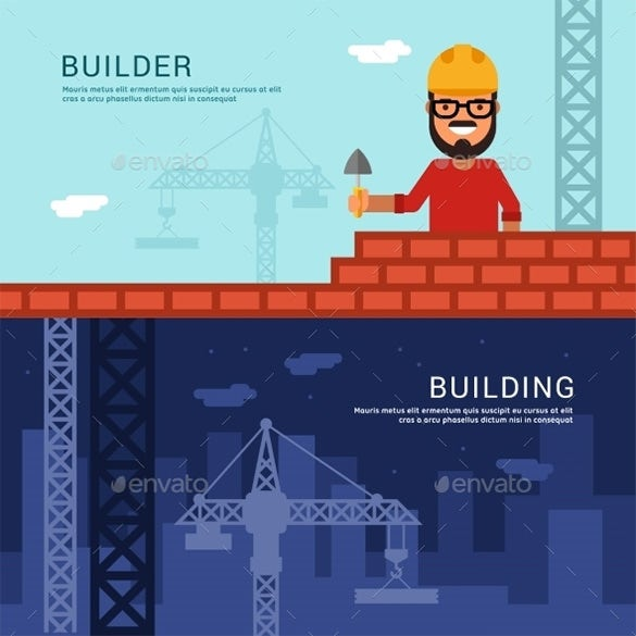 builder building vector illustration
