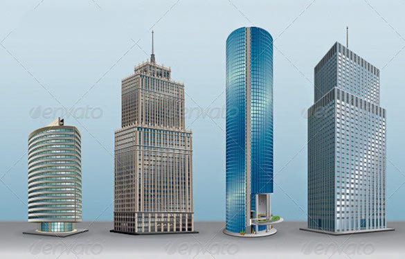 vector buildings collection download