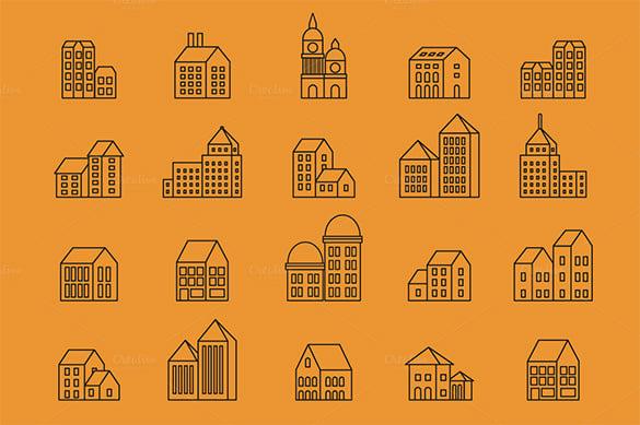 linear vector buildings