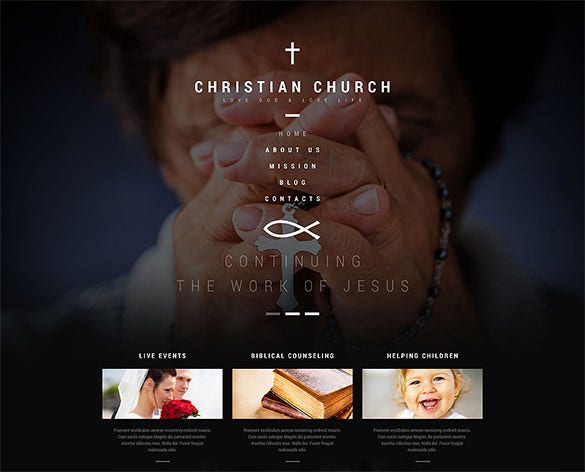 christian church php theme