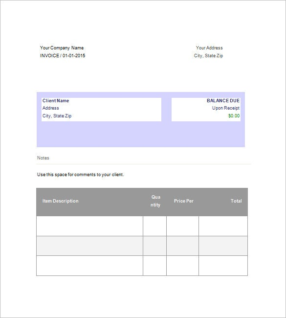 Business Invoice Template Free Sample Example Format - Free business invoice template