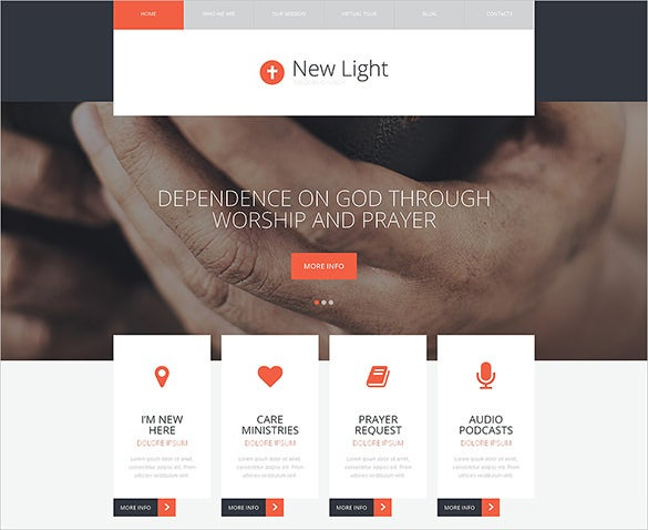 responsive church php template