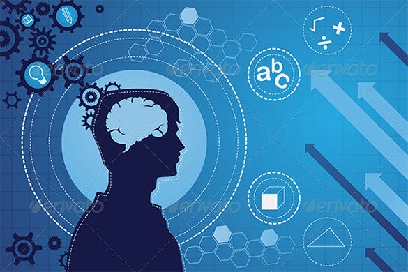 human brain function concept vector