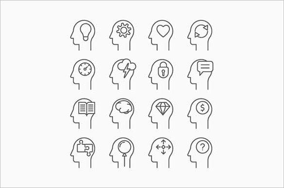premium human mind vectors