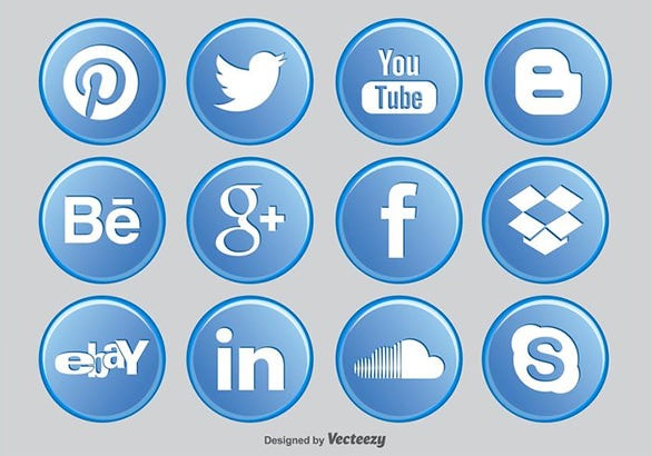 social media buttons free download