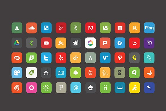 100 complete vector social media buttons